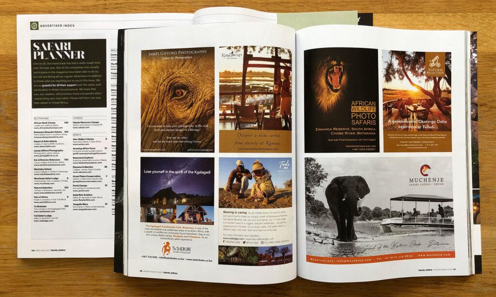 Advertising in Travel Africa Safari Planner   Travel Africa magazine